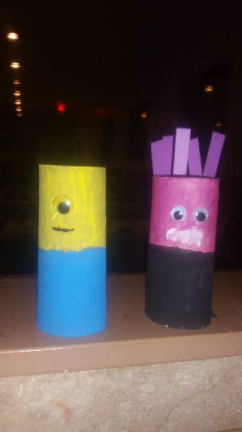 toilet paper roll crafts, minions