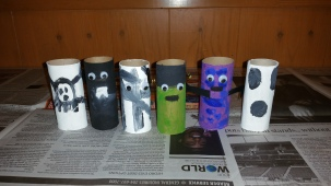 toilet paper roll crafts, halloween