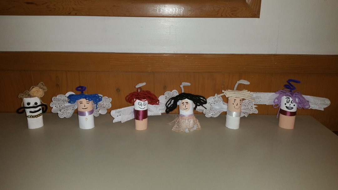 toilet paper roll crafts, angels