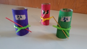 toilet paper roll crafts, ninjas