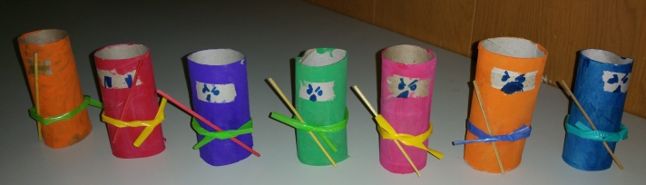 toilet paper roll ninjas
