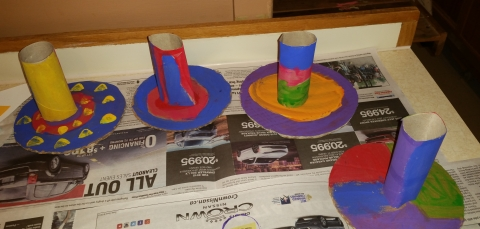toilet paper roll party hats