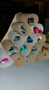 toilet paper roll crafts, cars