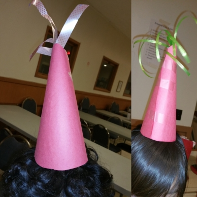 construction paper party hats, diy