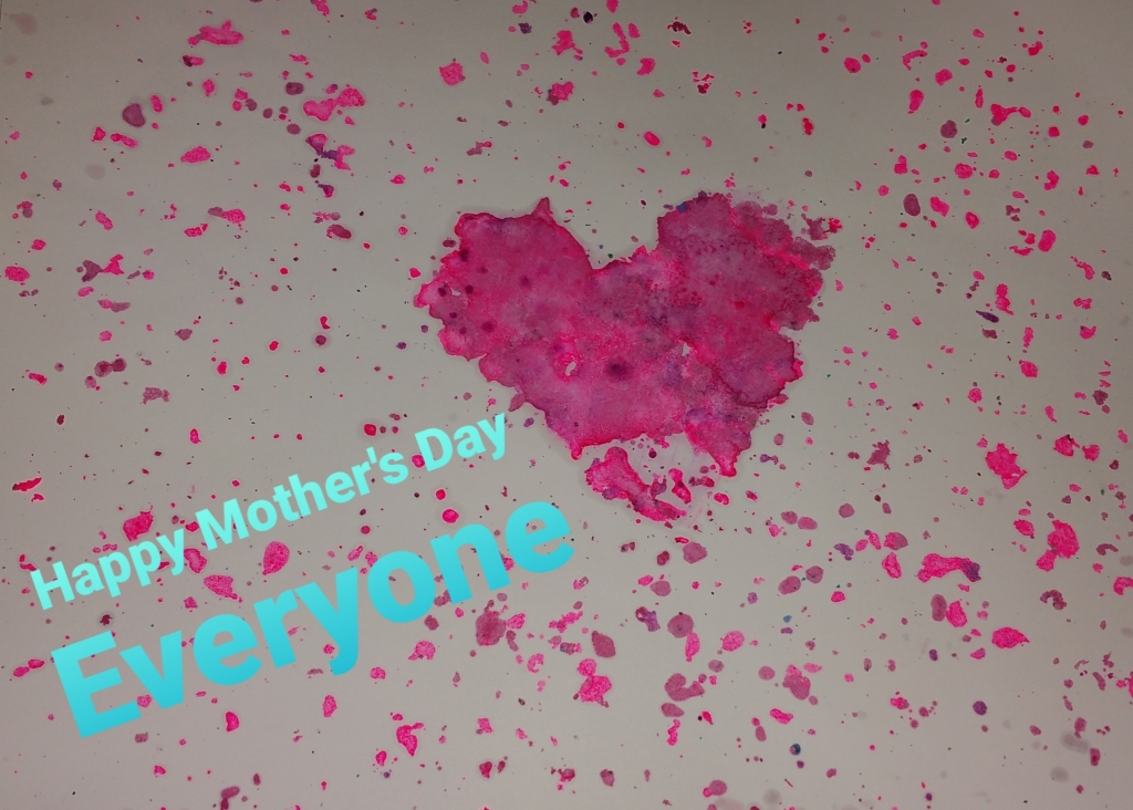 Mother's Day Wishes with Melted Crayon Art
