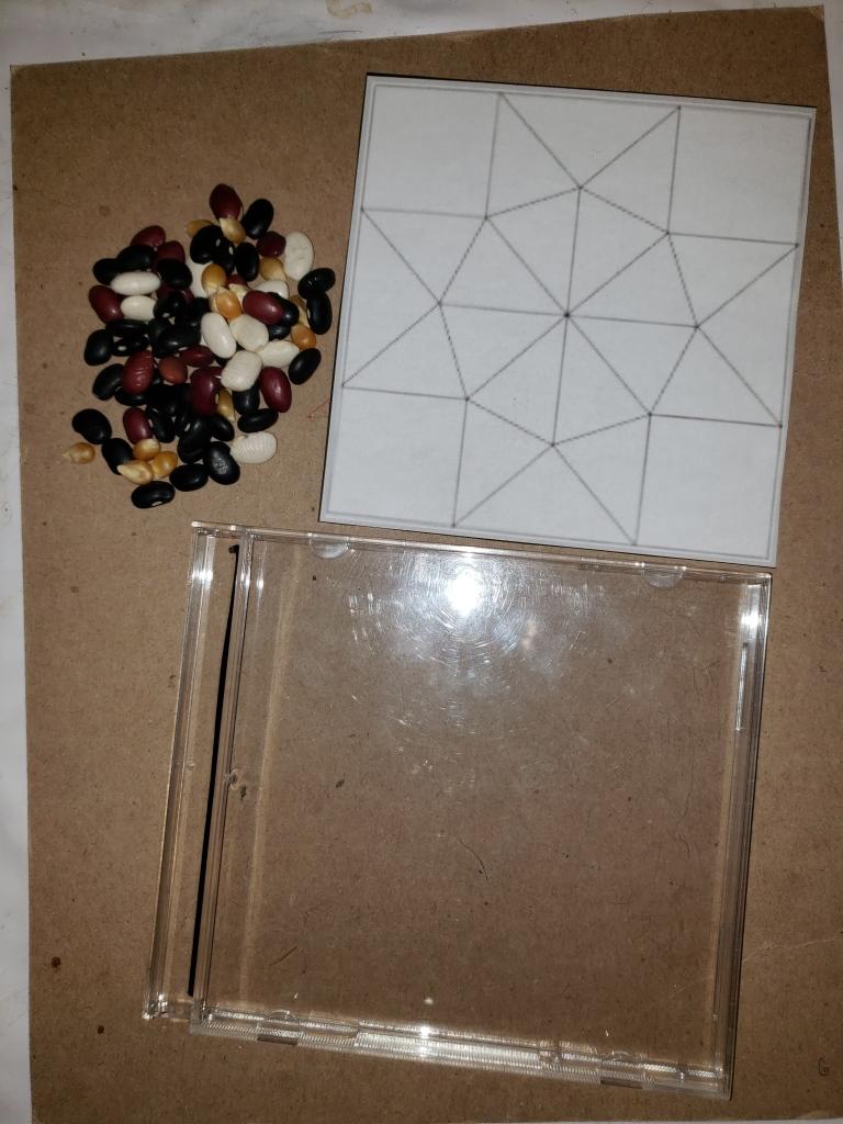 bean mosaic coaster