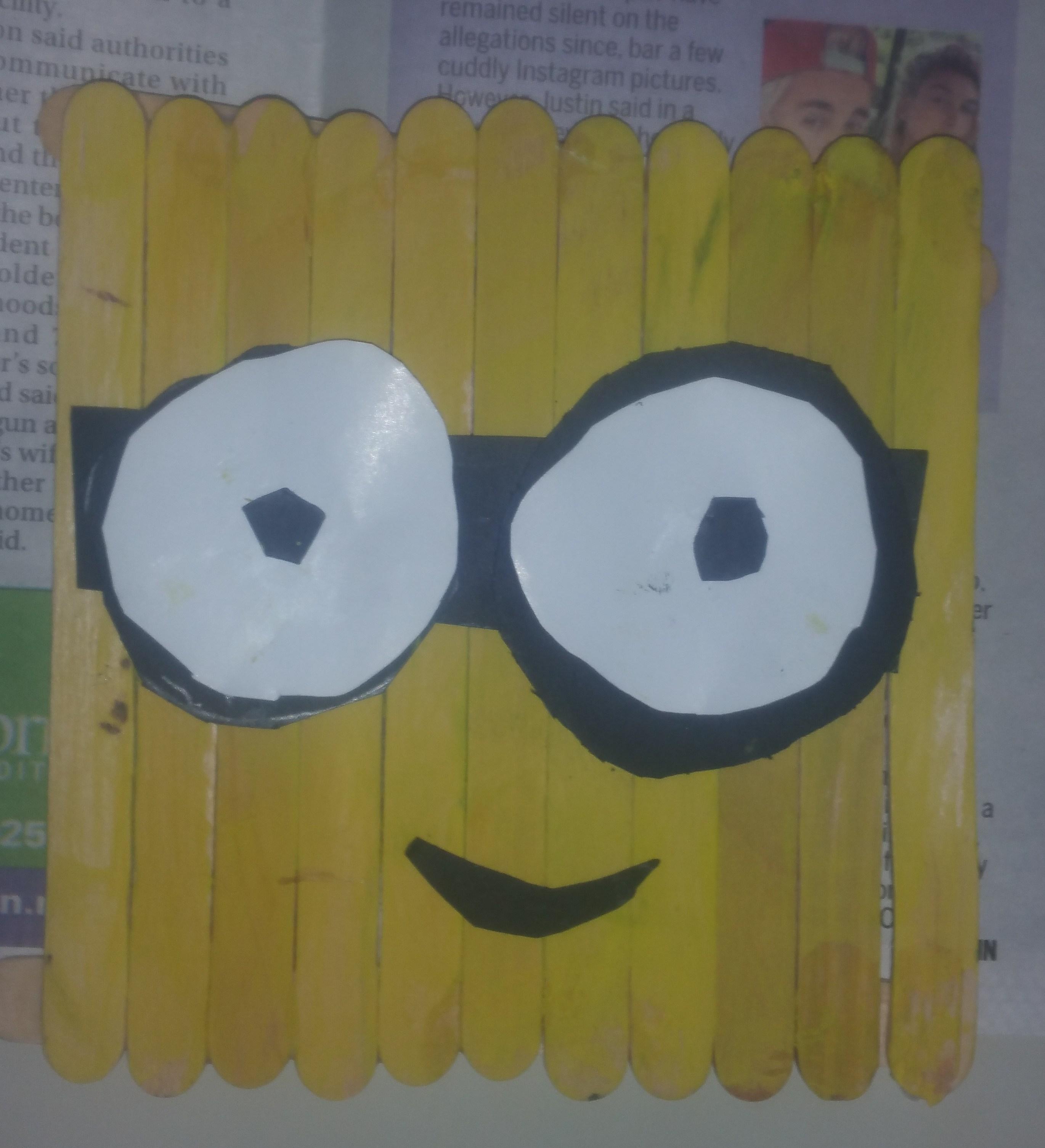 minion Popsicle stick