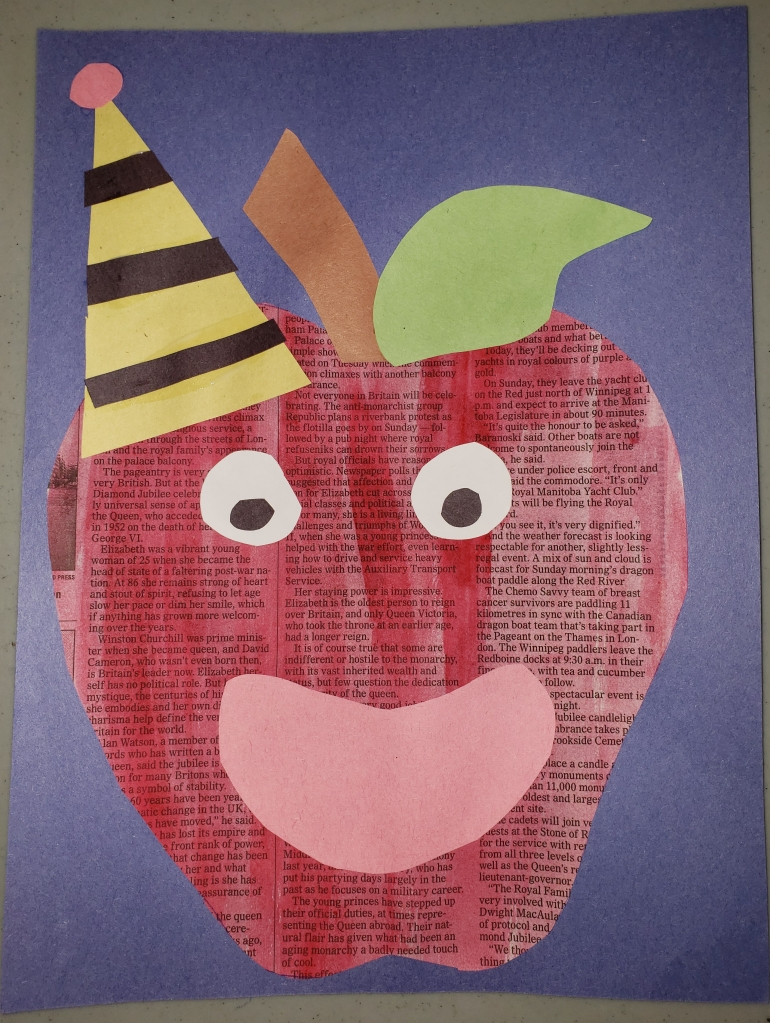 newspaper apple
