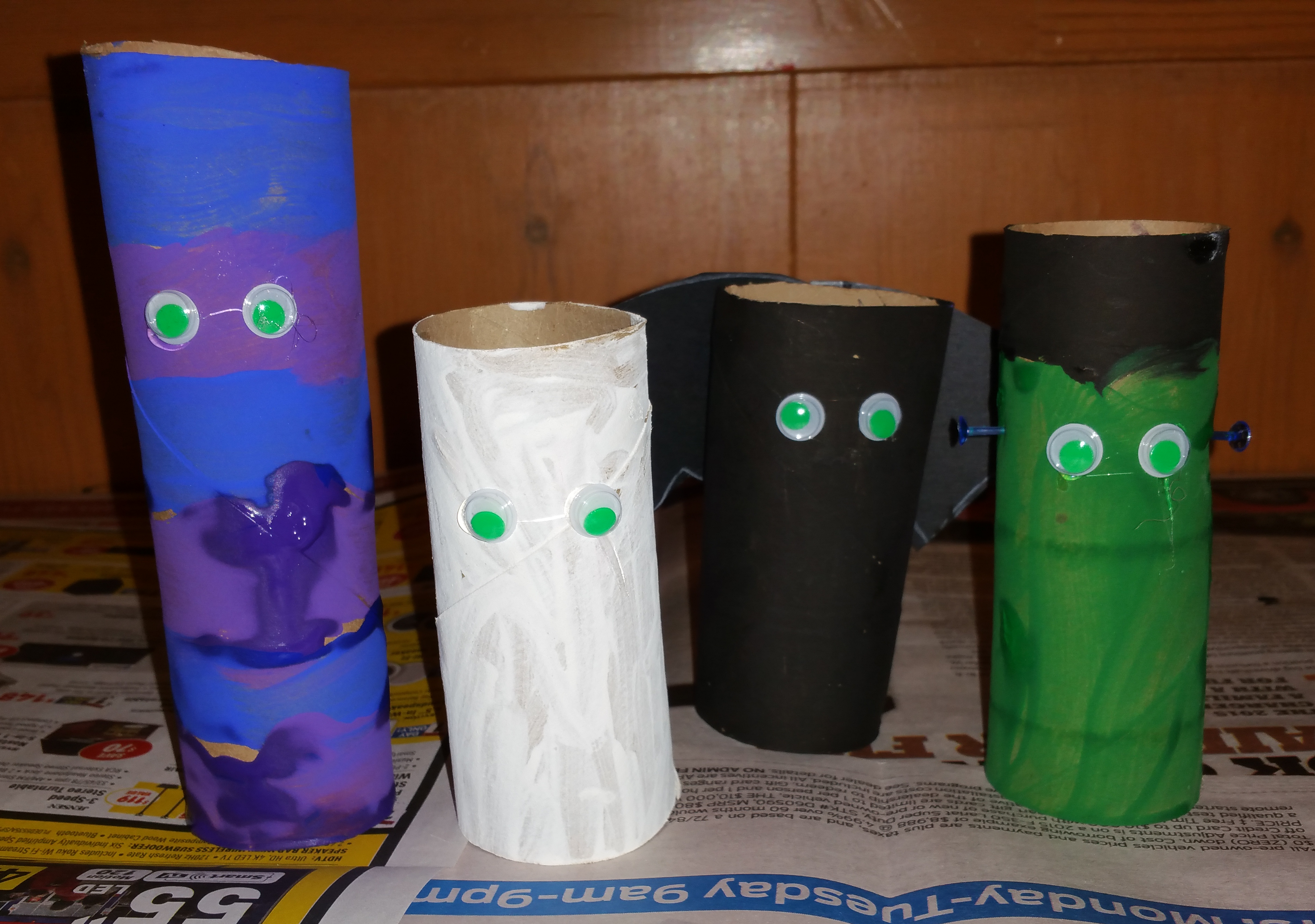 toilet paper roll creatures