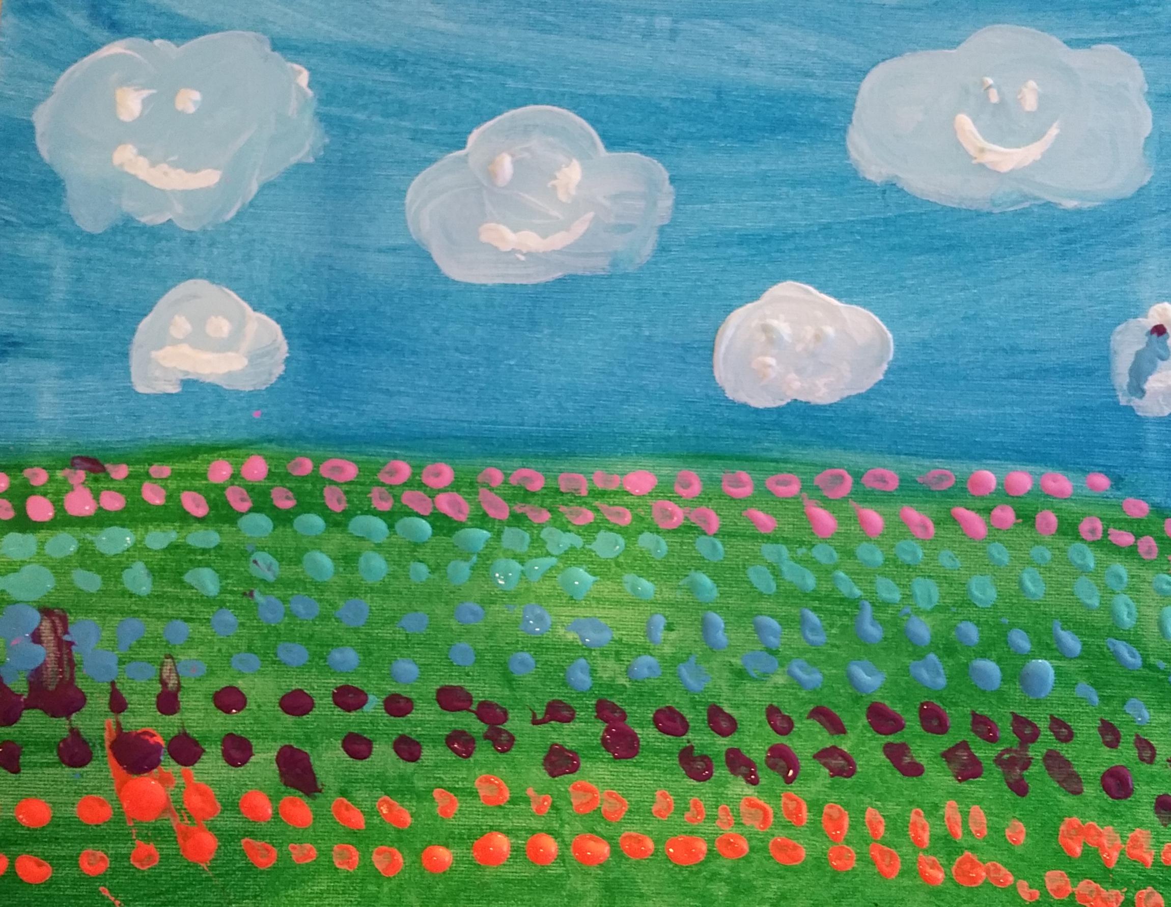 landscape of flowers