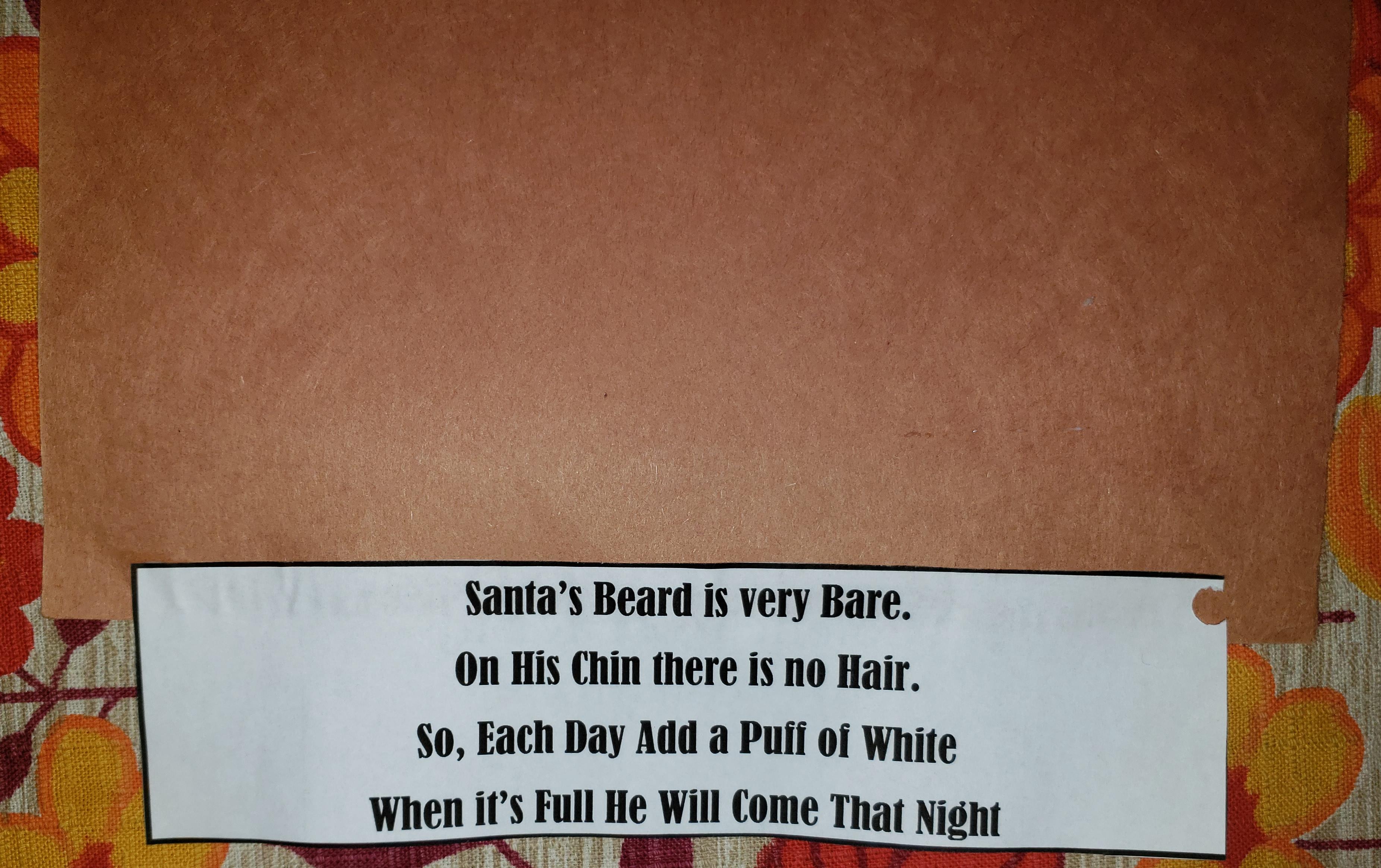 santas beard countdown